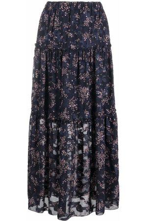 La Seine & Moi Women Printed Skirts - Floral-print maxi skirt