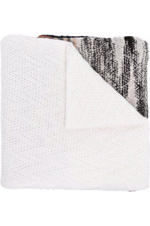 Missoni Women Scarves - Striped chevron-knit cashmere scarf