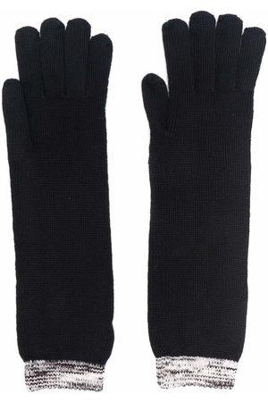 Missoni Women Gloves - Striped knit wool gloves