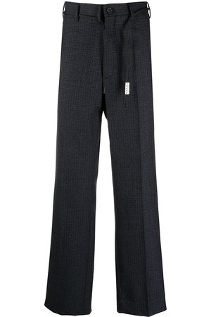 Marni Men Pants - Check-print straight-leg trousers