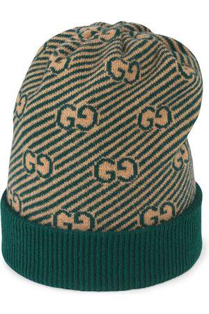 Gucci Diagonal GG pattern jacquard knit hat