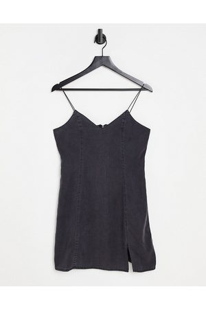 ASOS Women Casual Dresses - Soft denim barely there slip dress in washed