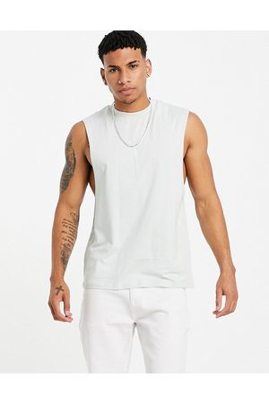 ASOS DESIGN Relaxed fit vest in grey blue