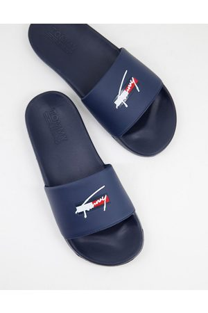 Tommy Hilfiger Slider with signature logo in navy