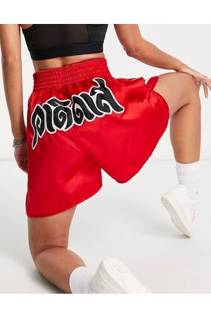 adidas Women Sports Shorts - X Dry Clean Only three stripe logo boxing style shorts in