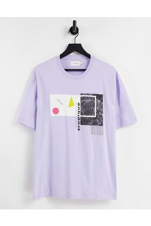 Topman T-shirt with collage print in lilac