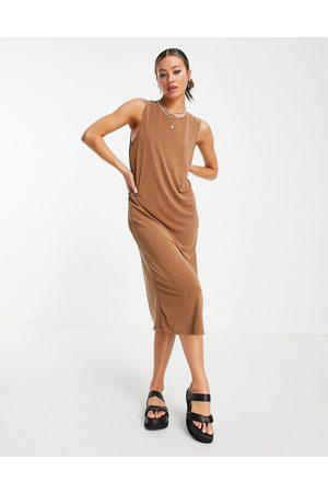 Object Sleeveless midi dress in