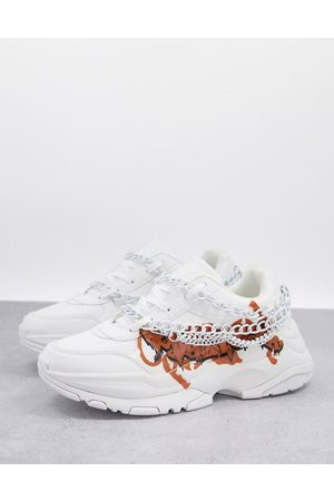 ASOS DESIGN Chunky trainers in with chains