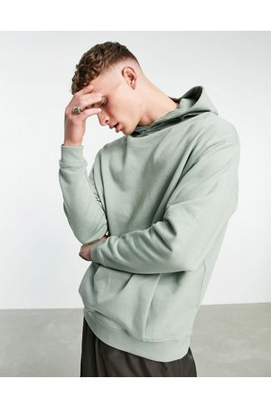 ASOS DESIGN Organic co-ord oversized hoodie with crossover neck in