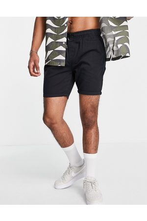 Brave Soul Elasticated waist chino shorts in navy