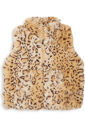 Widgeon Baby's, Little Girl's & Girl's Faux Fur Leopard Print Vest
