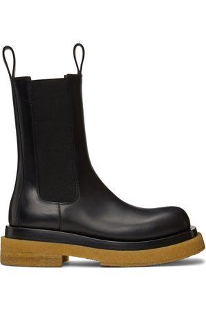 Bottega Veneta & Tan Crepe Sole Medium Lug Chelsea Boots