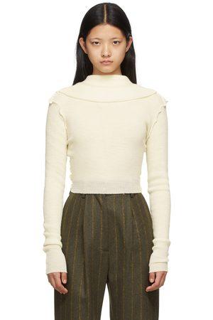 MM6 Maison Margiela Off- Wool Inside Out Sweater