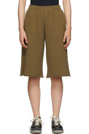 MM6 MAISON MARGIELA SSENSE Exclusive Khaki Logo Shorts