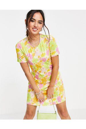 ASOS DESIGN Women Casual Dresses - Mini tea dress in retro floral print-Multi