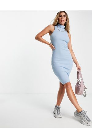 I saw it first Women Bodycon Dresses - Turtleneck ribbed bodycon dress in