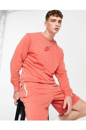 Nike Men Sweatshirts - Washed sweatshirt with embroidered logo in