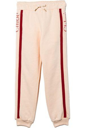Chloé Side stripe logo track pants