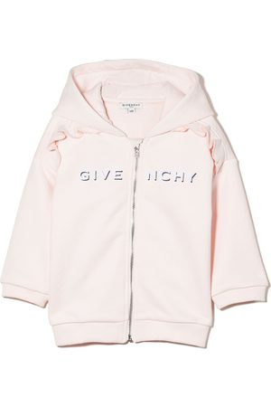 Givenchy Baby Hoodies - Logo-print zip-up hoodie