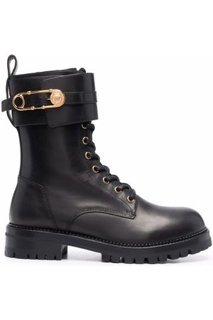 VERSACE Women Lace-up Boots - Medusa Pin lace-up boots