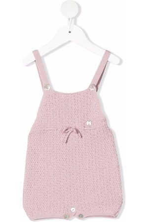 PAZ RODRIGUEZ Girls Dungarees - Bow-detailed wool dungarees