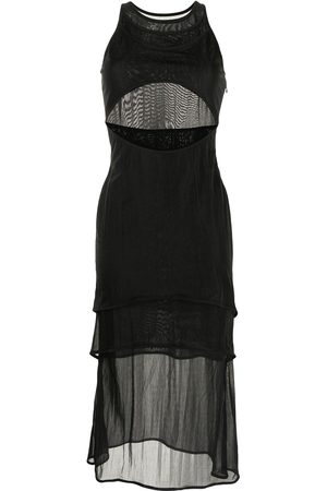 DION LEE Shadow overlay sleeveless dress