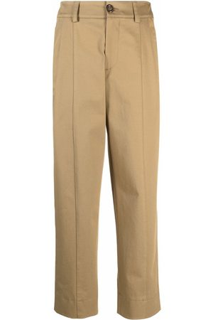 See by Chloé Women Pants - High-waist straight trousers