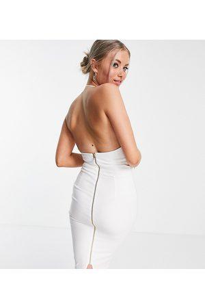 Vesper Tall Women Halterneck Dresses - Halter neck midi dress in