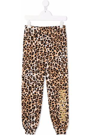 Moschino Logo leopard print tracksuit bottoms
