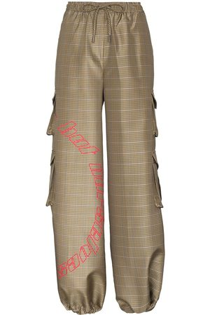 Daily paper Women Trousers - DLY PPR KNSN WD LG CRG PNTS IN HRITG CHC
