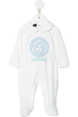 VERSACE Logo print babygrow