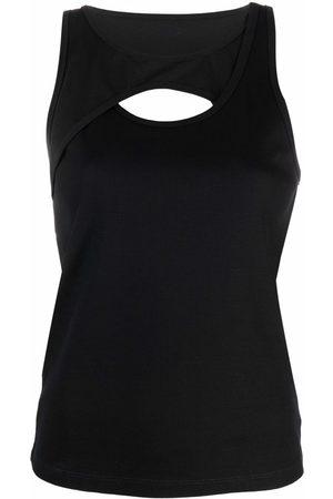 DION LEE Muscle Interlock cotton tank top