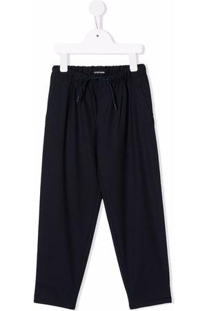 Emporio Armani Boys Pants - Drawstring straight leg trousers