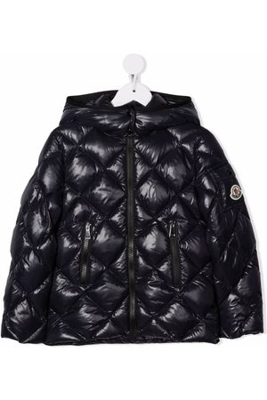 Moncler Kids Jackets - Quilted hooded down jacket