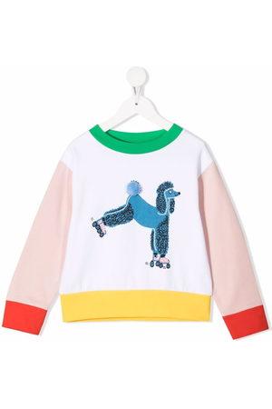 Stella McCartney Girls Sweatshirts - Poodle-print colour-block sweatshirt
