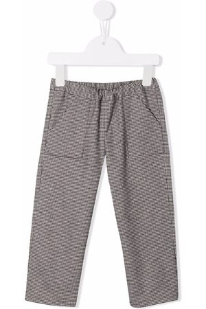BONPOINT Checked straight-leg trousers