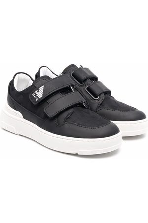 Emporio Armani Boys Sneakers - Touch-strap low-top sneakers