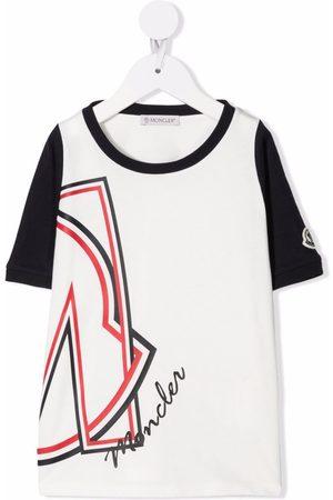 Moncler Logo-print two-tone T-shirt