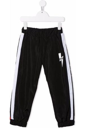 Neil Barrett Boys Trousers - Thunderbolt-print track pants