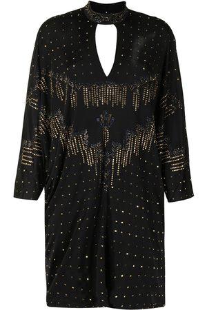 Camilla Rhinestone-embellished batwing dress