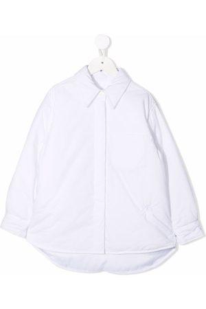MM6 KIDS Padded cotton shirt jacket