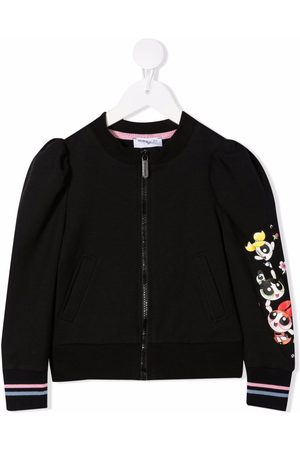 MONNALISA Powerpuff Girls zip-up bomber jacket