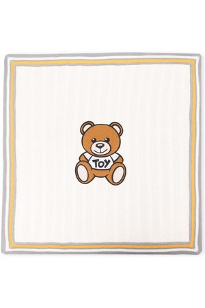 Moschino Teddy Bear cable-knit blanket