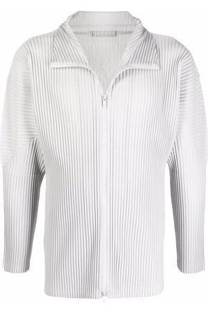 HOMME PLISSÉ ISSEY MIYAKE Men Sweatshirts - Pleated zip-up sweatshirt