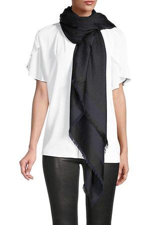Saint Laurent Sciarpa Grand Monogram Silk & Wool Square Scarf