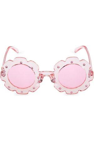 Bari Lynn Girl's Translucent Flower Sunglasses