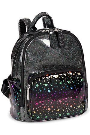 Bari Lynn Glitter & Star Print Mini Backpack