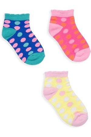 Saks Fifth Avenue Girl's Thee-Pack Polka Dot Ankle Socks
