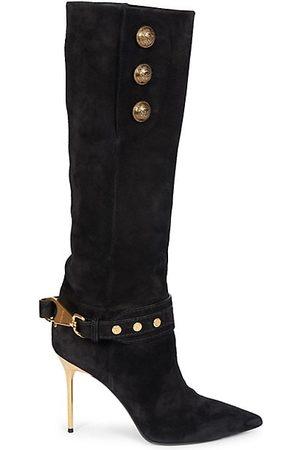 Balmain Knee High Boots - Robin Suede Knee-High Boots