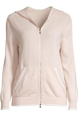 D.EXTERIOR Women Sweatshirts - Cashmere-Blend Zip-Up Hoodie